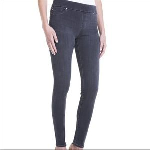 Liverpool Skinny Pull-On Knit Denim Leggings 12/31